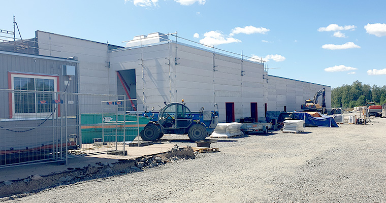 Construction of a new production hall warehouse at Weland Plastic
